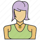 avatar, face, human, people, person, profile, woman icon