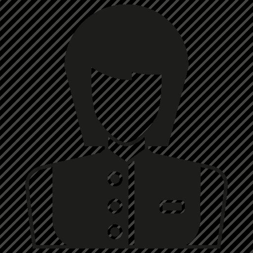 avatar, character, people, uniform, waitress, woman, worker icon