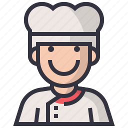 avatars, character, chief, cook, man, profession, user icon