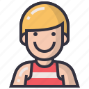 avatars, character, man, people, profession, sportman, user icon