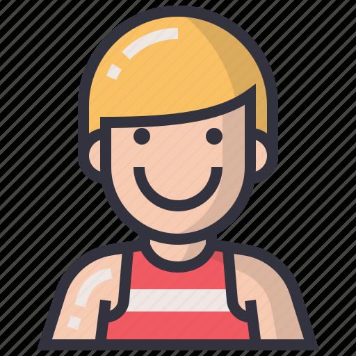 avatars, character, man, people, profession, sportman, user icon