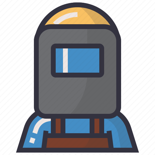 avatars, character, man, people, profession, user, welder icon