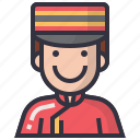 avatars, bellboy, character, man, people, profession, user icon