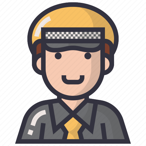 avatars, character, driving, man, profession, taxi, user icon