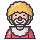 account, avatars, character, joker, man, profession, user icon