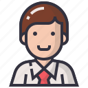 avatars, businessman, character, man, people, profession, profile icon
