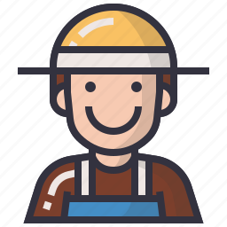 avatars, character, farmer, labour, man, profession, worker icon