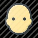 avatar, bald, hair, head, man, no, people icon