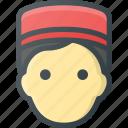 avatar, bell, bellboy, boy, head, hotel, people icon