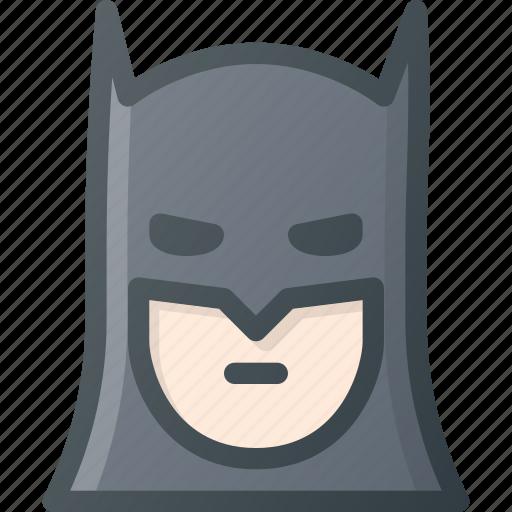 Bat, people, batman, head, avatar, comic, man icon