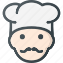 head, people, restaurant, shefe, avatar, cook