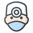 head, doctor, people, medic, avatar, surgery icon
