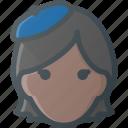 artist, avatar, female, head, people icon