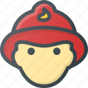 avatar, fighter, fire, firefighter, head, people icon