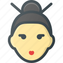avatar, geisha, gheisha, head, people icon
