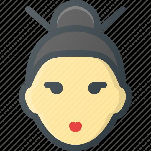 avatar, geisha, gheisha, head, people icon