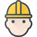 avatar, head, helmet, man, people, protect, worker icon