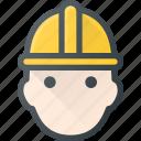 avatar, head, helmet, man, people, protect, worker
