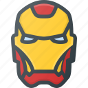 avatar, head, hero, iron, man, marvel, people icon