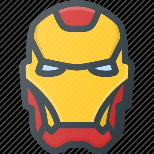 avatar, head, hero, iron, man, marvel, people icon