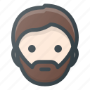 avatar, beard, head, hypster, male, man, people icon