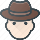 head, people, avatar, male, hat, man