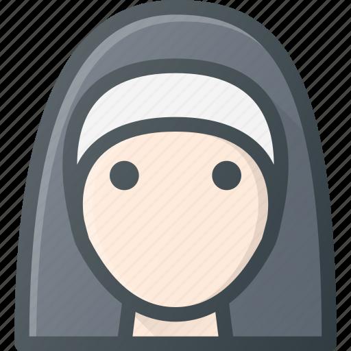 Head, christian, people, sister, nun, avatar, nurse icon