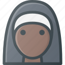 avatar, christian, head, nun, nurse, people, sister icon