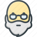 head, old, people, glasses, avatar, beard, man