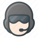 helmet, head, airforce, people, avatar, helicopter, pilot icon