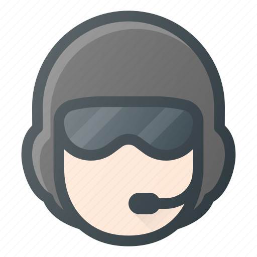 airforce, avatar, head, helicopter, helmet, people, pilot icon