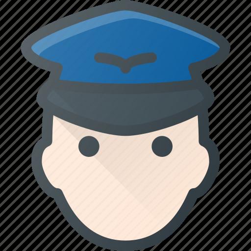 avatar, head, people, pilot, plane icon