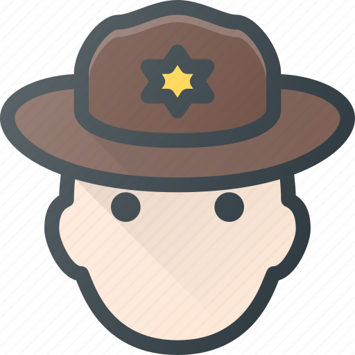 Avatar, head, people, ranger, scout, sheriff icon - Download on Iconfinder