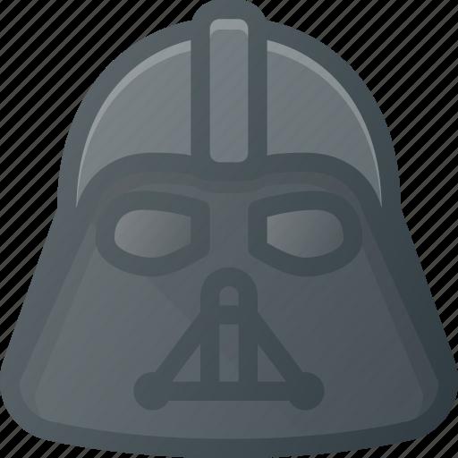 Starwars, head, people, darth, vader, avatar icon