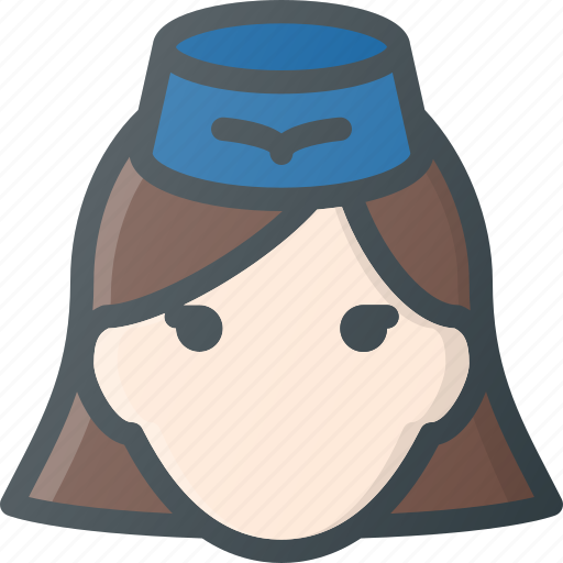 Avatar, fly, head, lady, people, stewardess icon - Download on Iconfinder
