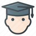 head, people, stydent, graduation, graduate, avatar, hat