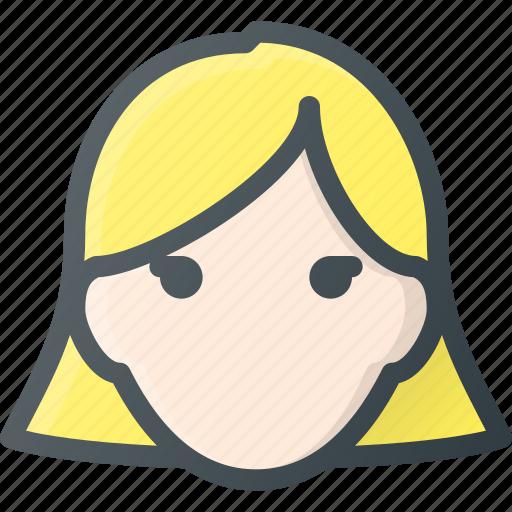 Head, woman, avatar, female, people icon