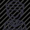 avatars, character, man, marine, naval, people, sailor icon