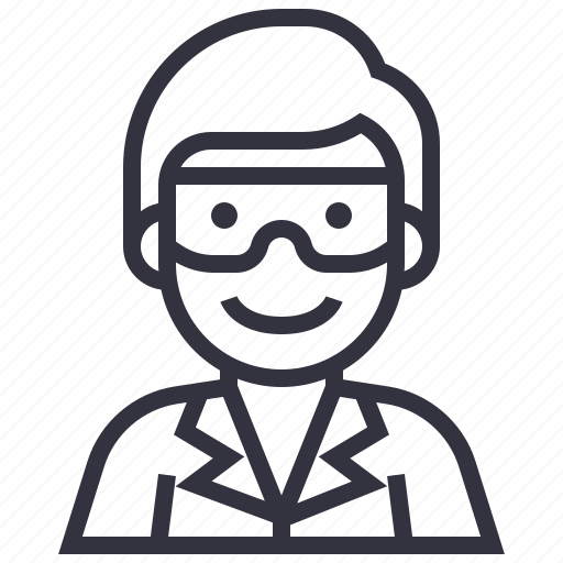 avatar, character, man, person, profession, science, scientist icon
