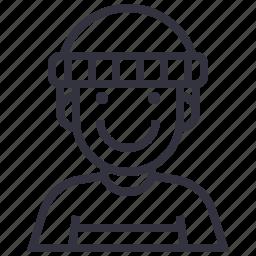 account, avatar, character, man, profession, profile, user icon