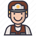 avatars, character, hunter, male, man, people, user icon