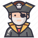 avatars, character, male, man, pirate, profession, thief icon