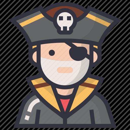 avatars, character, male, man, pirate, profession, thief icon