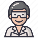 avatars, character, male, man, profession, science, scientist icon