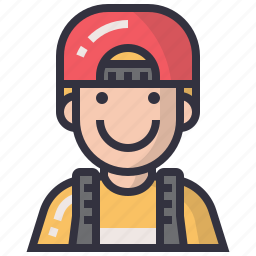 avatar, character, man, people, profession, student, user icon
