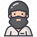 avatars, character, male, man, profession, professor, teacher icon