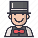 avatars, character, magician, man, person, profession, user icon
