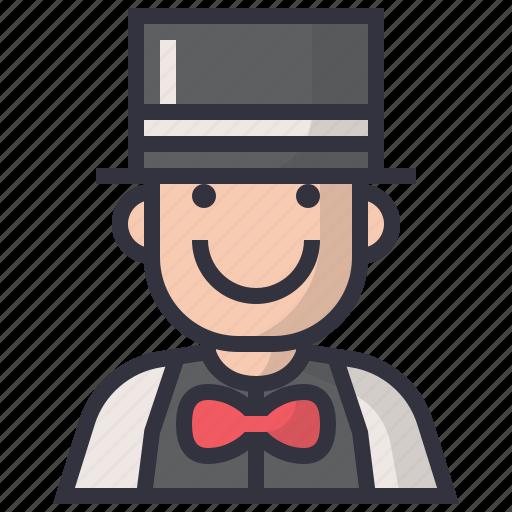 avatars, character, magician, man, person, profession, user icon