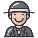 avatars, businessman, character, man, person, profession, user icon