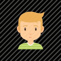 avatar, blonde, boy, male, people icon